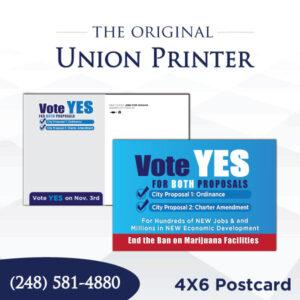 Union Printed 4x6 Postcards
