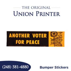 Union Printed Bumper Stickers