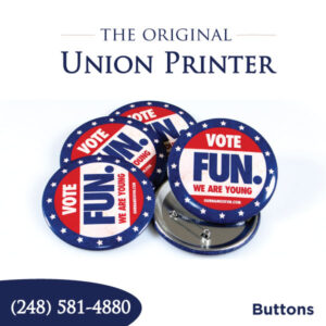 Union Printed Buttons