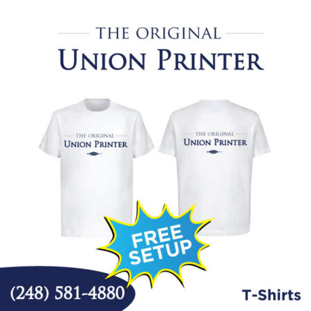 White T-Shirts - Full Color Printing