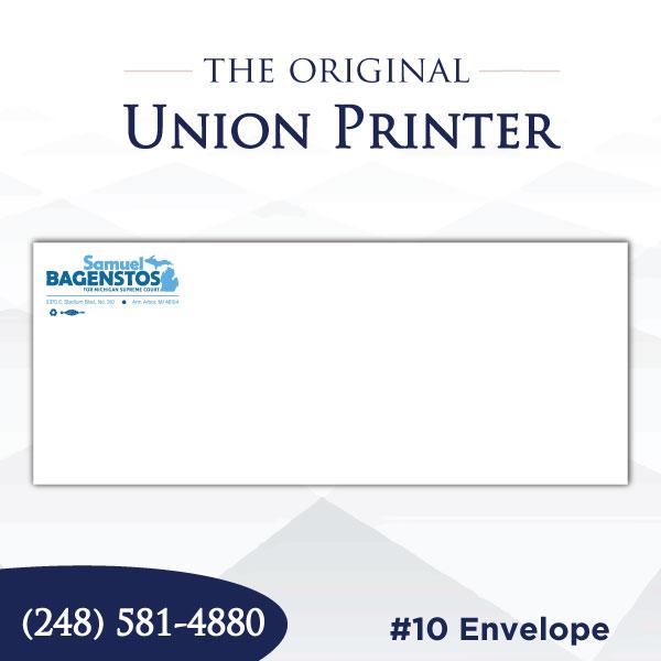 Union Printed #10 Regular Envelopes