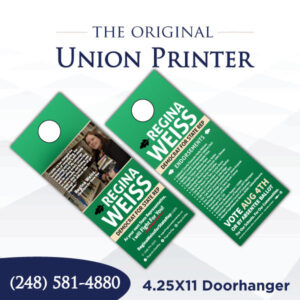Union Printed Doorhangers