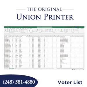 Voter List For Sale